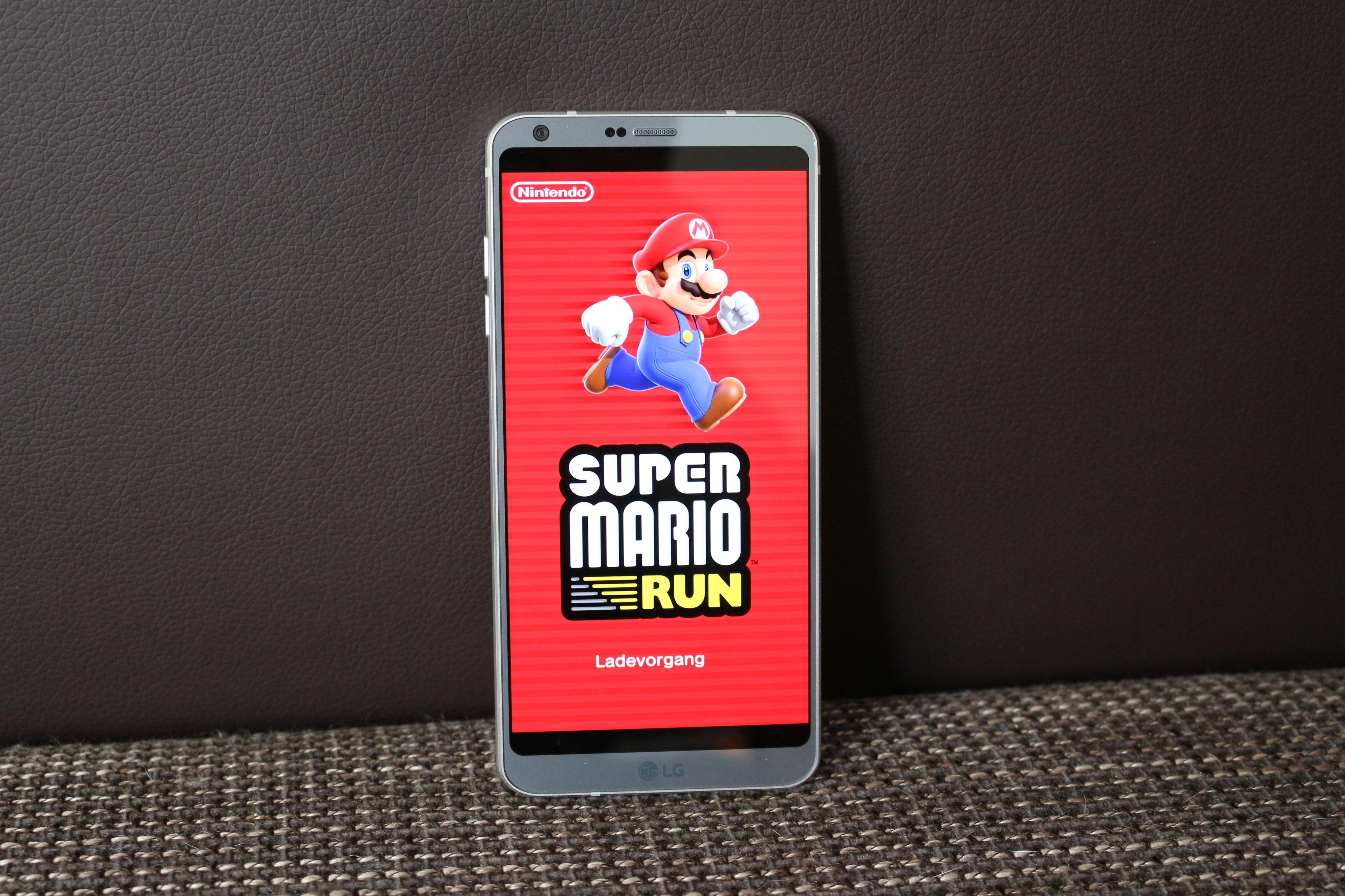 Super Mario Run auf dem LG G6 mit 16 7 9 Skalierung