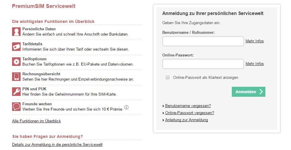 Vergessen und benutzername winsim passwort Kontakt