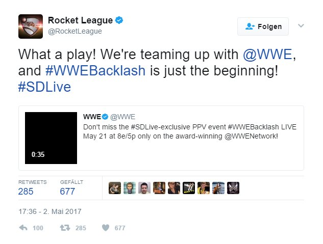 Rocket League Tweet