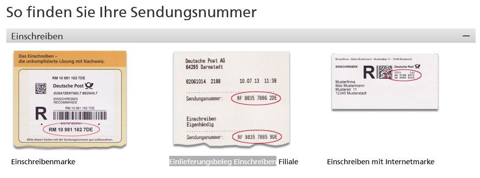 Deutsche post sendungsstatus einschreiben