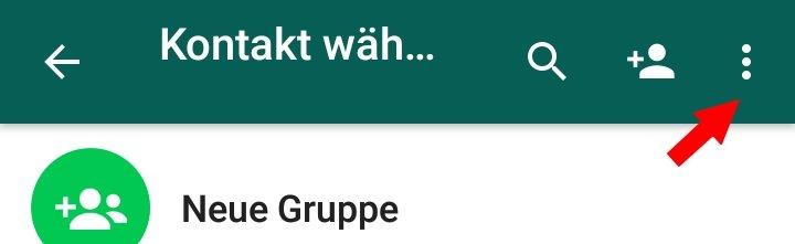 WhatsApp Options-Menue