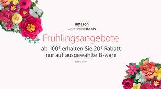 Amazon Frühlingsangebote: 20 € Rabatt auf ausgewählte Warehouse Deals ab 100 € Einkaufswert