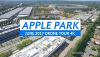 Apple Park: Erster Blick durch die Fensterscheiben des Steve Jobs Theater