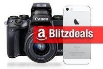 Blitzdeals & CyberSale: iPhone SE für 333 Euro, Canon EOS 70D, Canon EOS M5, 4K-TV und mehr günstiger