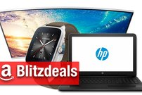 Blitzdeals & CyberSale: HP-Notebook für 222 Euro, Curved-Monitor, Asus Zenwatch 2, Ambilight-TV billiger