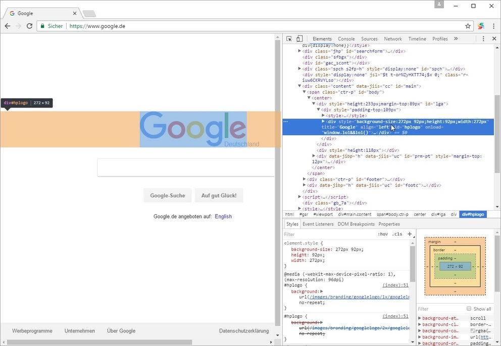 chrome-developer-tools-untersuchen