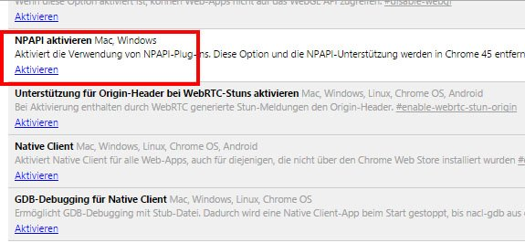 Hier aktiviert ihr das Silverlight-Plugin in Chrome vor Browser-Version 45.