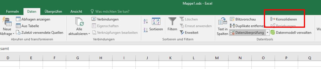 Excel: Daten konsolidieren (Beispiel-Video) – GIGA