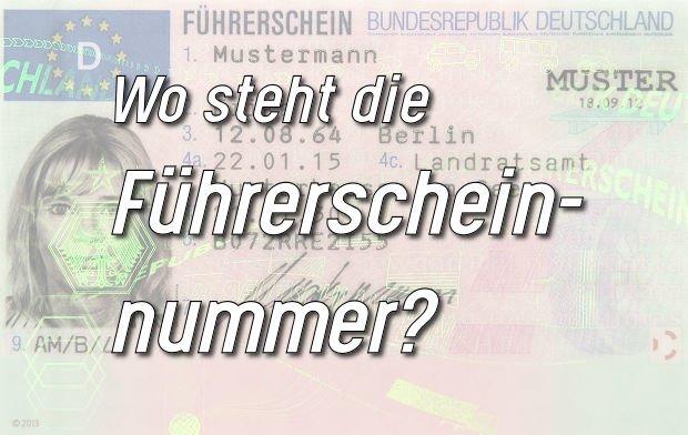 Führerschein Nummer