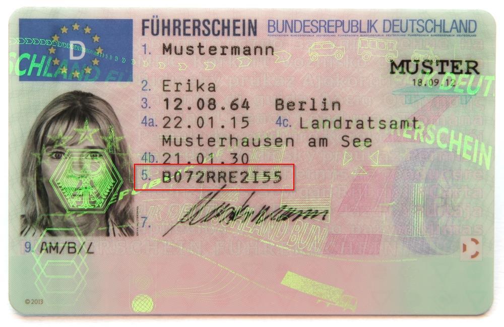Führerscheinnummer
