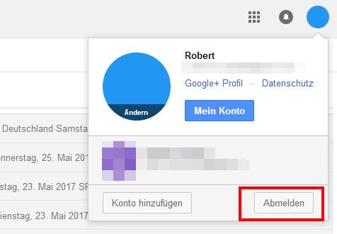 Google Konto überall Abmelden