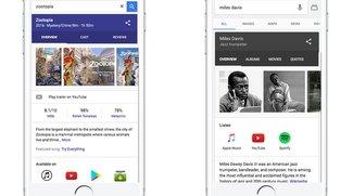 Google-Suche zeigt jetzt auch auf iOS-Geräten Download- und Streaming-Dienst-Ergebnisse