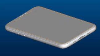 CAD-Zeichnungen zeigen iPhone 8 ohne rückseitigen Touch-ID-Sensor