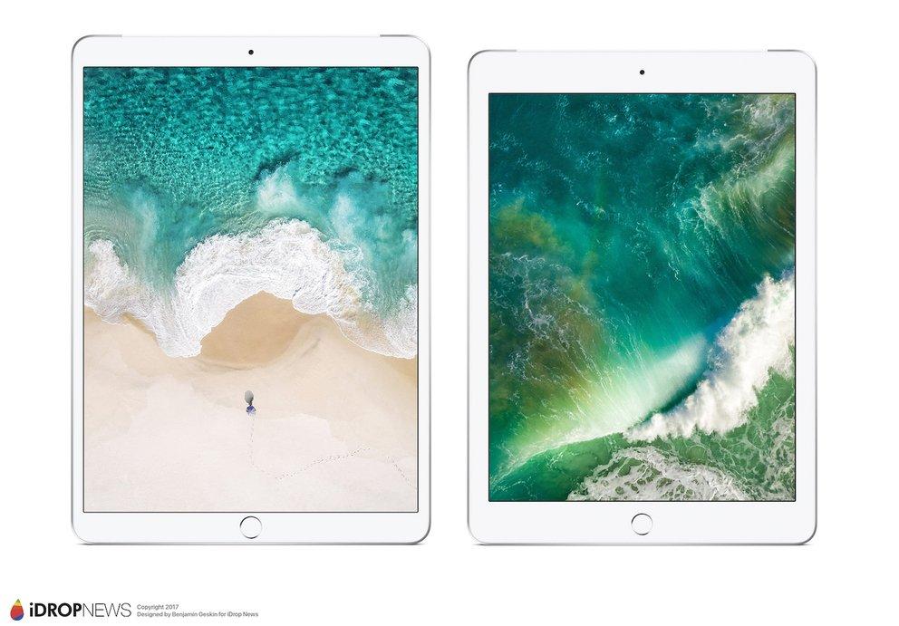 10,5-Zoll-iPad: Renderings zeigen Design im Vergleich zum 9,7-Zoll-Modell