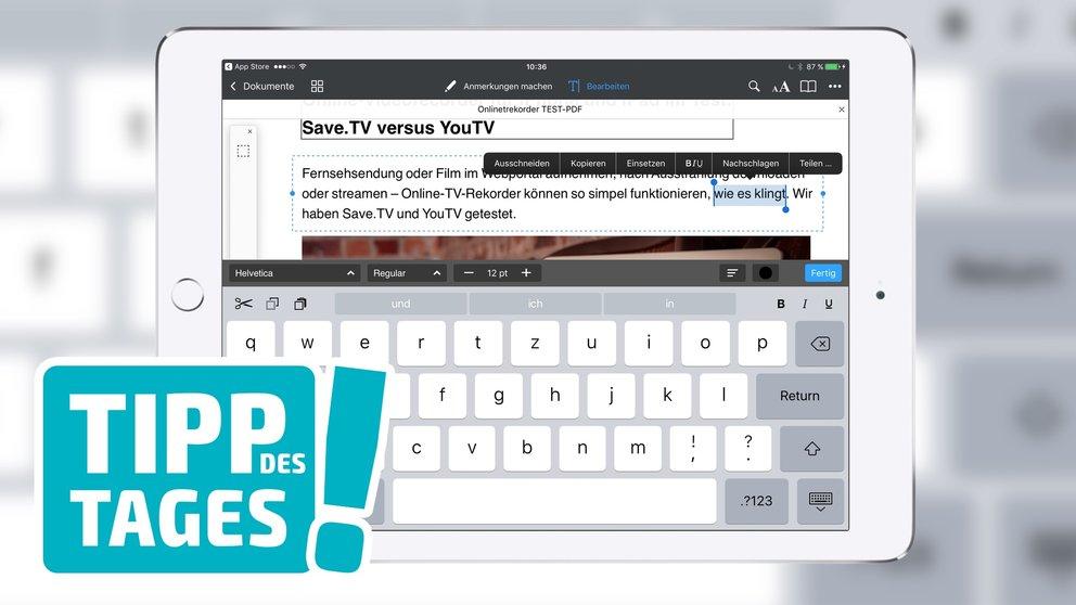 Gespeichert pdf wo ipad s werden