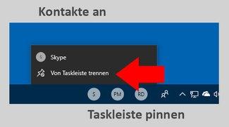 Windows 10: Kontakte an Taskleiste anpinnen – so geht's