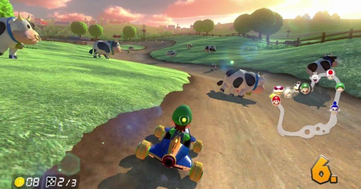 Mario Kart 8 Deluxe Fahrzeugteile Und Goldteile Freischalten Giga