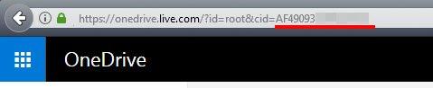 "Hinter ""cid="" steht eure OneDrive-ID."