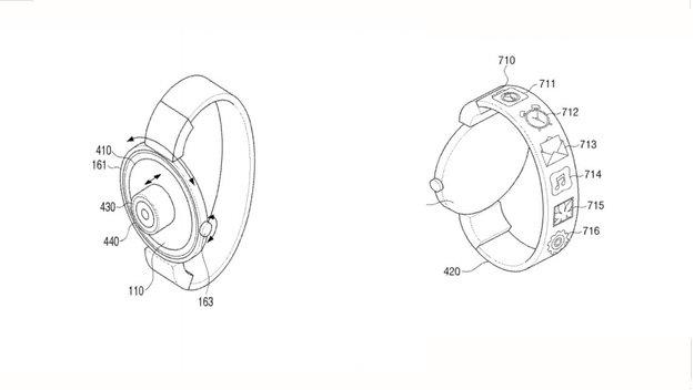 Samsung-Patent: Smartwatch mit zweitem Display im Armband und Kamera
