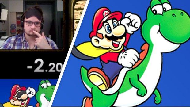 Super Mario World: Speedrun mit verbundenen Augen in unter 14 Minuten