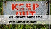 Telekom: Rufnummer sperren - IP-Anschluss, ISDN & Handy