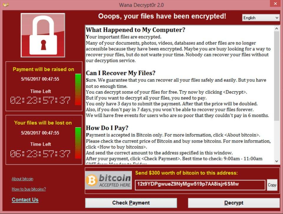 WannaCry verschlüsselt Dateien und erpresst Lösegeld. Bildquelle: securelist.com