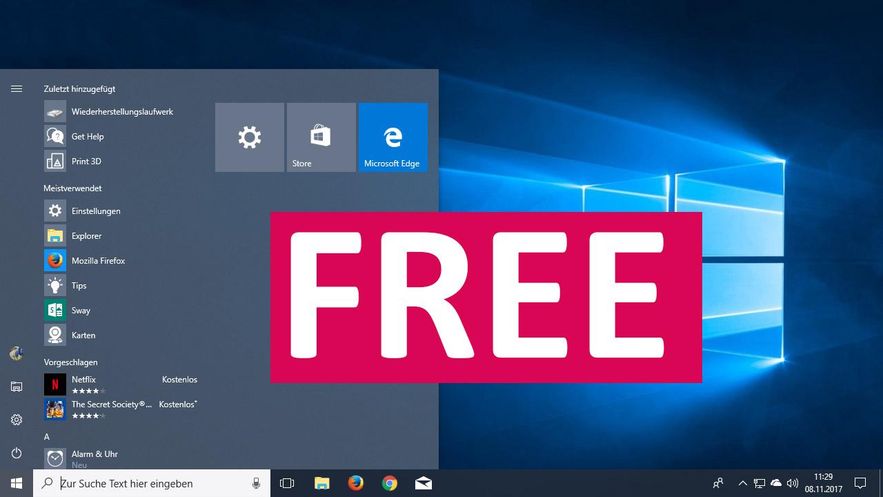 upgrade windows 7 auf windows 10 kostenlos