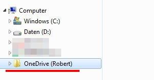 OneDrive als Laufwerk im Windows-Explorer eingebunden.