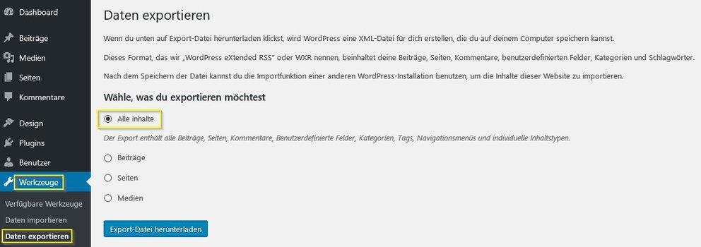 wordpress-umziehen-manuell