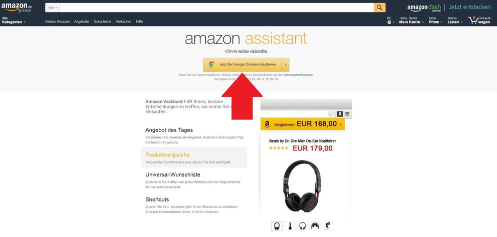 Amazon Assistant installieren