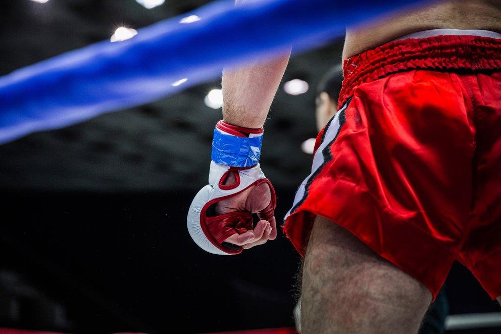 fighter in corner of ring