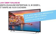 Telekom EntertainTV 1 Jahr ohne Aufpreis + Full-HD-Fernseher gratis