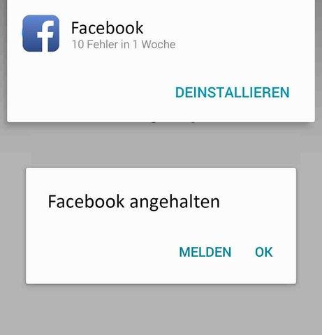 Facebook wurde zum 100. Mal angehalten.b