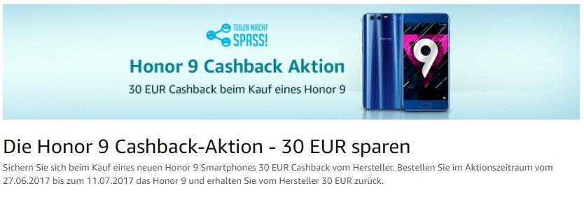 Honor-9-Cashback-Aktion-Amazon