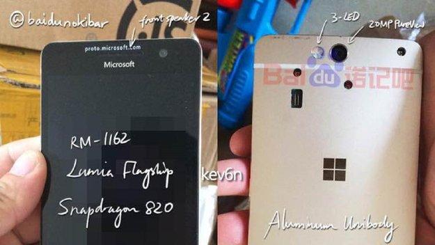 Microsoft Lumia 960: Fotos zeigen Flaggschiff-Smartphone, das nicht sein durfte