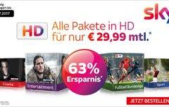 Mega Sky-Angebot: Alle Pakete in HD inkl. gratis Sky+ HD-Receiver für 29,99 € pro Monat (statt 76,99 €) [Update]