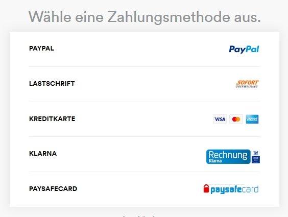 Spotify Zahlungsarten Zahlungsmethode auswählen
