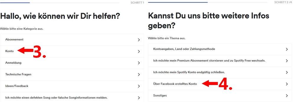 Spotify von Facebook trennen Hilfe