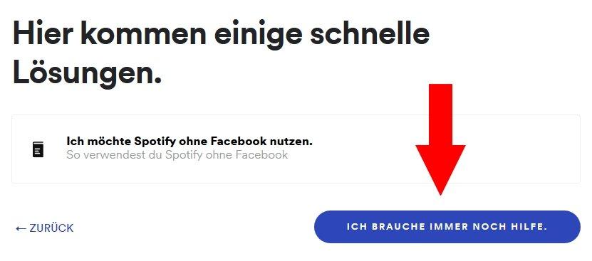 Spotify von Facebook trennen Kontakt
