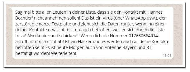 WhatsApp Hannes Bochtler