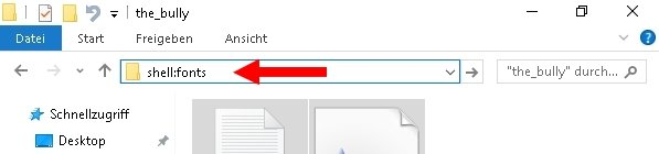 Windows Schriftarten installieren deinstallieren 04