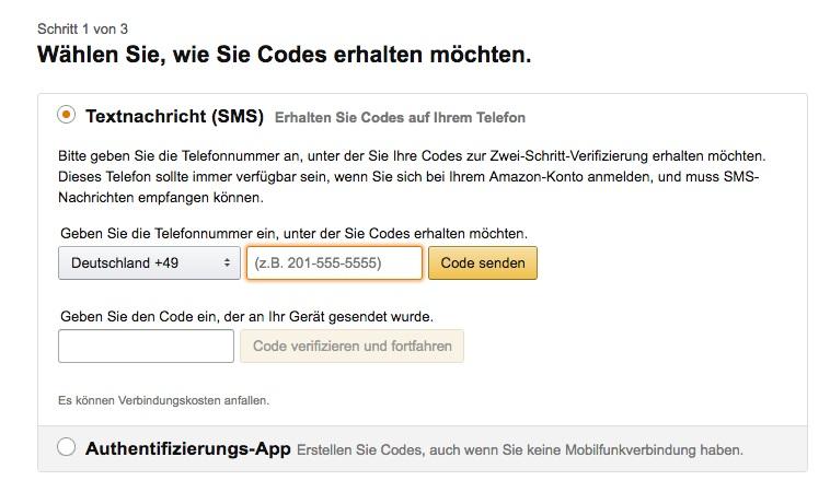 code bei amazon