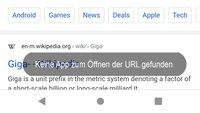 Lösung: Keine App zum Öffnen der URL gefunden (Android)