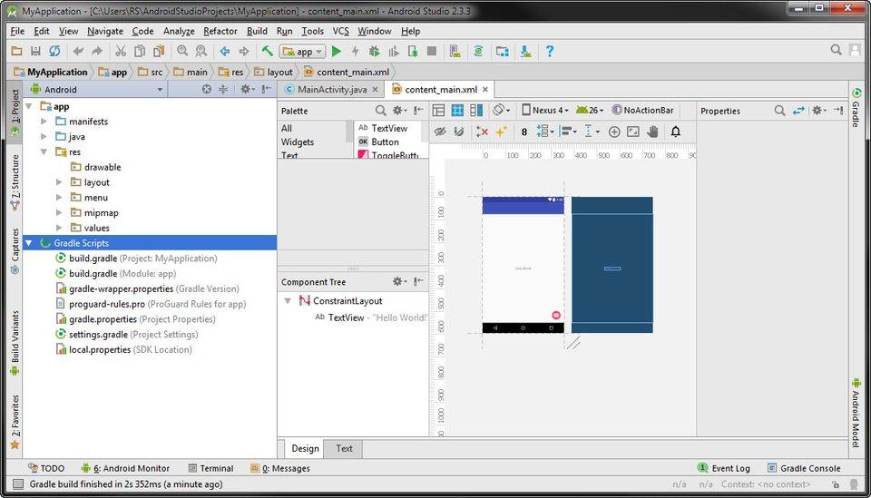 Android Studio: In diesem Projekt wird eine App entwickelt.