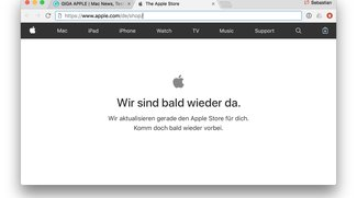 Apple Store offline: Vorbereitungen für heute Abend