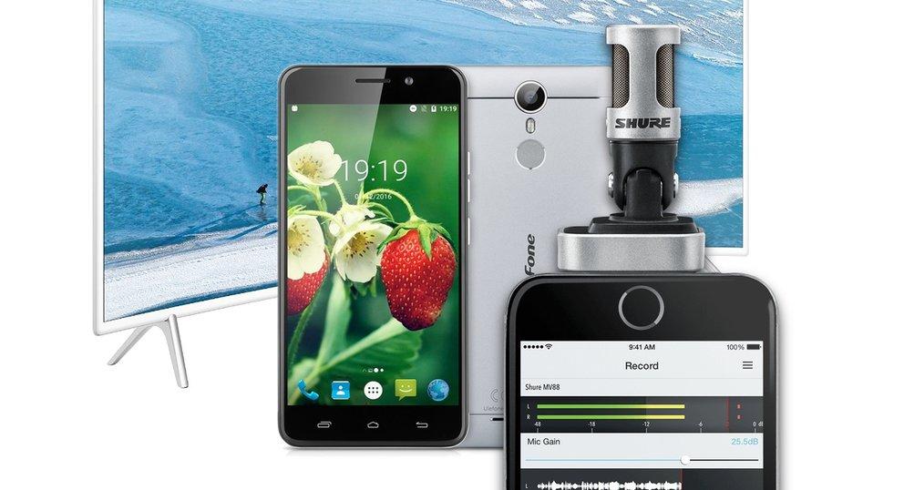 Blitzdeals & CyberSale: iPhone-Mikro von Shure, Curved-TV, Ulefone Metal Smartphone günstiger