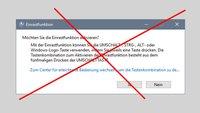 Einrastfunktion deaktivieren (Windows 10, 7, 8)