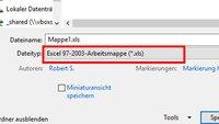 Excel Kompatibilitätsmodus – .xlsx als .xls speichern