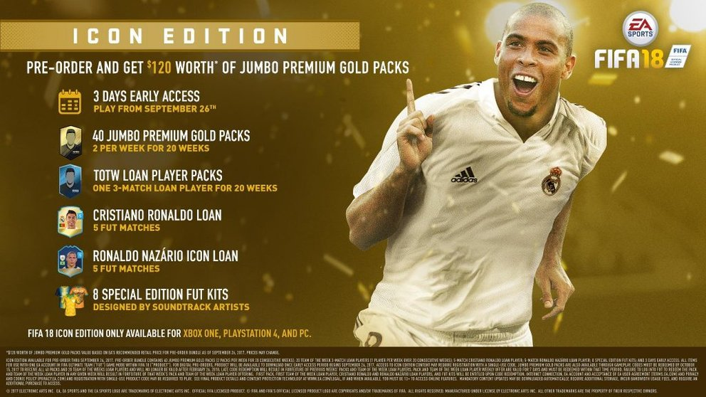 FIFA 18 Legenden Editionen