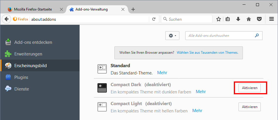Firefox: Dark Theme aktivieren – so gehts
